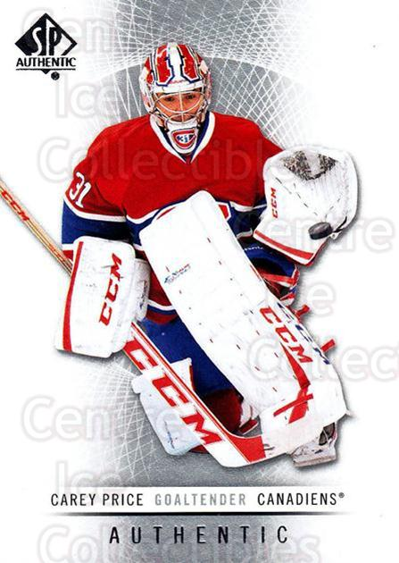 2012-13 SP Authentic #1 Carey Price<br/>2 In Stock - $3.00 each - <a href=https://centericecollectibles.foxycart.com/cart?name=2012-13%20SP%20Authentic%20%231%20Carey%20Price...&price=$3.00&code=665061 class=foxycart> Buy it now! </a>