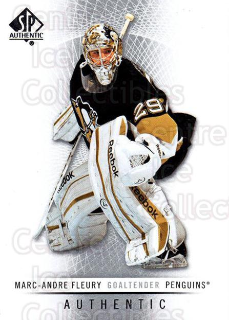 2012-13 SP Authentic #104 Marc-Andre Fleury<br/>2 In Stock - $2.00 each - <a href=https://centericecollectibles.foxycart.com/cart?name=2012-13%20SP%20Authentic%20%23104%20Marc-Andre%20Fleu...&quantity_max=2&price=$2.00&code=665164 class=foxycart> Buy it now! </a>