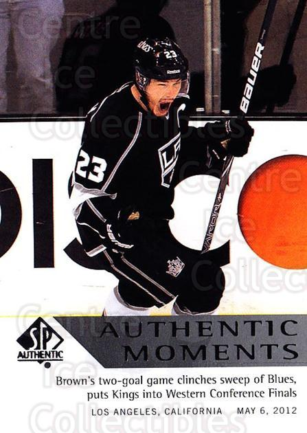 2012-13 SP Authentic #164 Dustin Brown<br/>1 In Stock - $2.00 each - <a href=https://centericecollectibles.foxycart.com/cart?name=2012-13%20SP%20Authentic%20%23164%20Dustin%20Brown...&quantity_max=1&price=$2.00&code=665224 class=foxycart> Buy it now! </a>