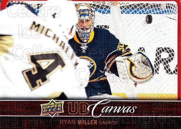 2012-13 Upper Deck Canvas #12 Ryan Miller<br/>2 In Stock - $2.00 each - <a href=https://centericecollectibles.foxycart.com/cart?name=2012-13%20Upper%20Deck%20Canvas%20%2312%20Ryan%20Miller...&quantity_max=2&price=$2.00&code=665607 class=foxycart> Buy it now! </a>