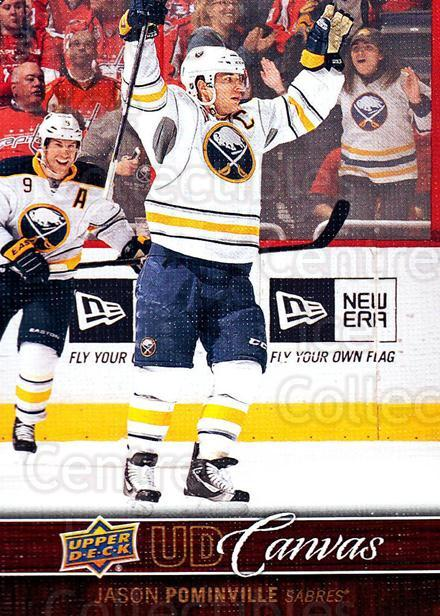 2012-13 Upper Deck Canvas #13 Jason Pominville<br/>5 In Stock - $2.00 each - <a href=https://centericecollectibles.foxycart.com/cart?name=2012-13%20Upper%20Deck%20Canvas%20%2313%20Jason%20Pominvill...&quantity_max=5&price=$2.00&code=665608 class=foxycart> Buy it now! </a>