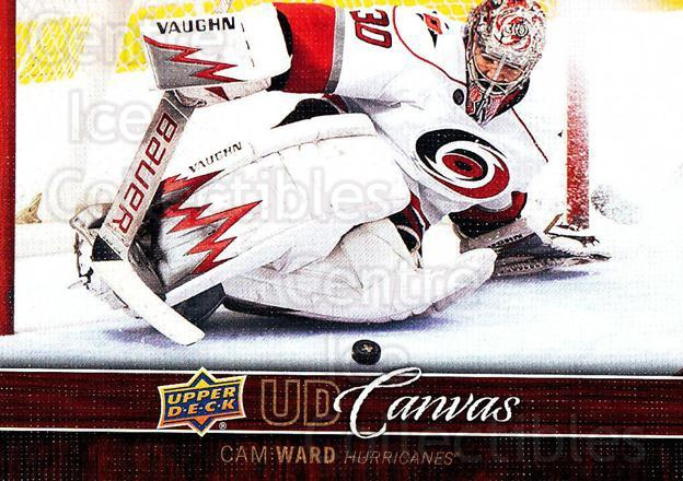 2012-13 Upper Deck Canvas #19 Cam Ward<br/>1 In Stock - $2.00 each - <a href=https://centericecollectibles.foxycart.com/cart?name=2012-13%20Upper%20Deck%20Canvas%20%2319%20Cam%20Ward...&price=$2.00&code=665614 class=foxycart> Buy it now! </a>