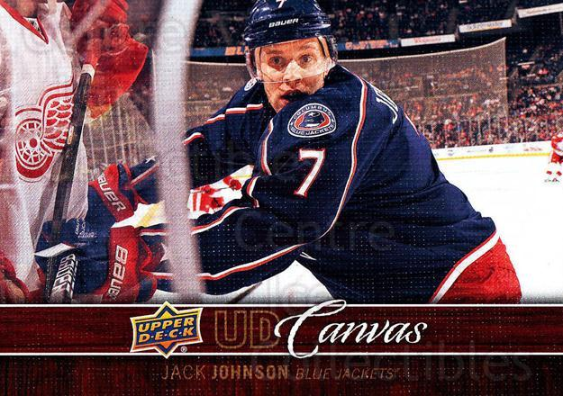 2012-13 Upper Deck Canvas #26 Jack Johnson<br/>4 In Stock - $2.00 each - <a href=https://centericecollectibles.foxycart.com/cart?name=2012-13%20Upper%20Deck%20Canvas%20%2326%20Jack%20Johnson...&quantity_max=4&price=$2.00&code=665621 class=foxycart> Buy it now! </a>
