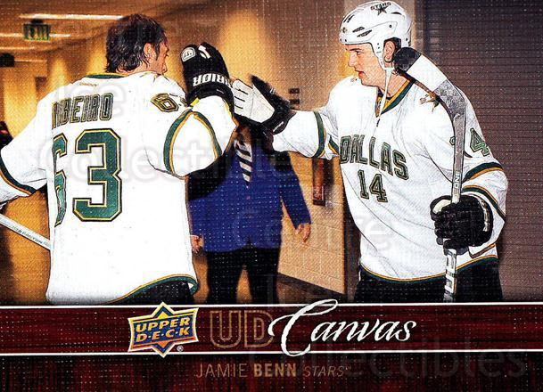 2012-13 Upper Deck Canvas #28 Jamie Benn<br/>3 In Stock - $2.00 each - <a href=https://centericecollectibles.foxycart.com/cart?name=2012-13%20Upper%20Deck%20Canvas%20%2328%20Jamie%20Benn...&quantity_max=3&price=$2.00&code=665623 class=foxycart> Buy it now! </a>