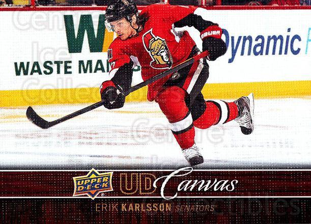 2012-13 Upper Deck Canvas #60 Erik Karlsson<br/>3 In Stock - $3.00 each - <a href=https://centericecollectibles.foxycart.com/cart?name=2012-13%20Upper%20Deck%20Canvas%20%2360%20Erik%20Karlsson...&quantity_max=3&price=$3.00&code=665655 class=foxycart> Buy it now! </a>