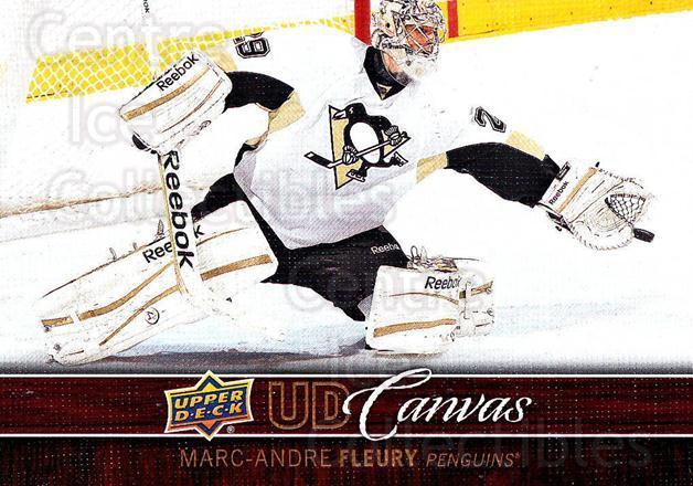 2012-13 Upper Deck Canvas #69 Marc-Andre Fleury<br/>1 In Stock - $3.00 each - <a href=https://centericecollectibles.foxycart.com/cart?name=2012-13%20Upper%20Deck%20Canvas%20%2369%20Marc-Andre%20Fleu...&quantity_max=1&price=$3.00&code=665664 class=foxycart> Buy it now! </a>