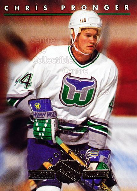 1993-94 Donruss Rated Rookies #3 Chris Pronger<br/>18 In Stock - $2.00 each - <a href=https://centericecollectibles.foxycart.com/cart?name=1993-94%20Donruss%20Rated%20Rookies%20%233%20Chris%20Pronger...&quantity_max=18&price=$2.00&code=6657 class=foxycart> Buy it now! </a>