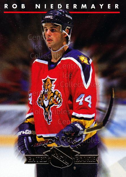 1993-94 Donruss Rated Rookies #4 Rob Niedermayer<br/>25 In Stock - $2.00 each - <a href=https://centericecollectibles.foxycart.com/cart?name=1993-94%20Donruss%20Rated%20Rookies%20%234%20Rob%20Niedermayer...&quantity_max=25&price=$2.00&code=6658 class=foxycart> Buy it now! </a>