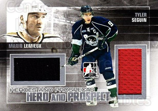 2010-11 ITG Heroes and Prospects Hero and Prospect Jersey #2 Tyler Seguin, Mario Lemieux<br/>1 In Stock - $25.00 each - <a href=https://centericecollectibles.foxycart.com/cart?name=2010-11%20ITG%20Heroes%20and%20Prospects%20Hero%20and%20Prospect%20Jersey%20%232%20Tyler%20Seguin,%20M...&quantity_max=1&price=$25.00&code=665973 class=foxycart> Buy it now! </a>