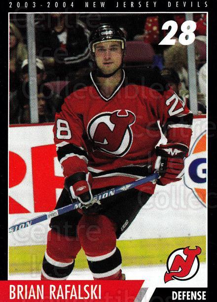 2003-04 New Jersey Devils Team Issue #25 Brian Rafalski<br/>4 In Stock - $3.00 each - <a href=https://centericecollectibles.foxycart.com/cart?name=2003-04%20New%20Jersey%20Devils%20Team%20Issue%20%2325%20Brian%20Rafalski...&quantity_max=4&price=$3.00&code=666016 class=foxycart> Buy it now! </a>