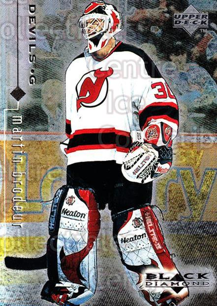 1998-99 Black Diamond #50 Martin Brodeur<br/>10 In Stock - $2.00 each - <a href=https://centericecollectibles.foxycart.com/cart?name=1998-99%20Black%20Diamond%20%2350%20Martin%20Brodeur...&price=$2.00&code=66667 class=foxycart> Buy it now! </a>