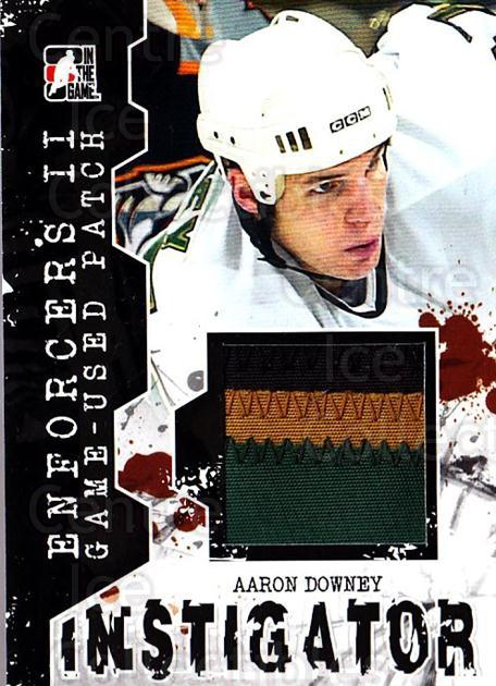 2013-14 ITG Enforcers Instigator Jersey Patches #8 Aaron Downey<br/>3 In Stock - $15.00 each - <a href=https://centericecollectibles.foxycart.com/cart?name=2013-14%20ITG%20Enforcers%20Instigator%20Jersey%20Patches%20%238%20Aaron%20Downey...&quantity_max=3&price=$15.00&code=667186 class=foxycart> Buy it now! </a>