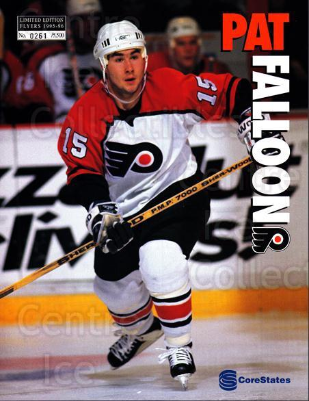 1995-96 Philadelphia Flyers Line-Up Cards #38 Pat Falloon<br/>1 In Stock - $10.00 each - <a href=https://centericecollectibles.foxycart.com/cart?name=1995-96%20Philadelphia%20Flyers%20Line-Up%20Cards%20%2338%20Pat%20Falloon...&price=$10.00&code=667608 class=foxycart> Buy it now! </a>