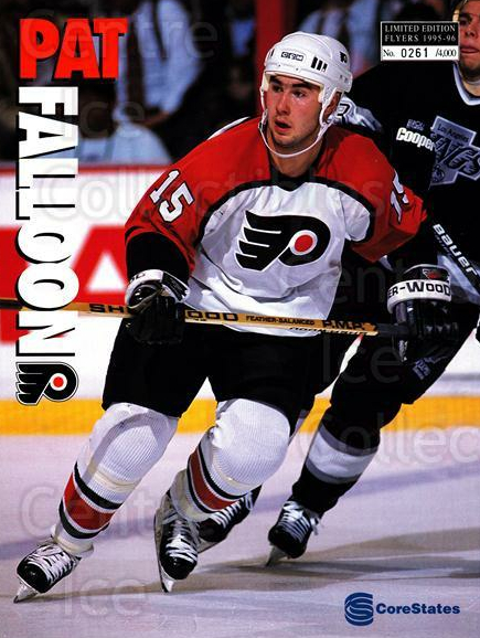 1995-96 Philadelphia Flyers Line-Up Cards #39 Pat Falloon<br/>1 In Stock - $10.00 each - <a href=https://centericecollectibles.foxycart.com/cart?name=1995-96%20Philadelphia%20Flyers%20Line-Up%20Cards%20%2339%20Pat%20Falloon...&price=$10.00&code=667609 class=foxycart> Buy it now! </a>