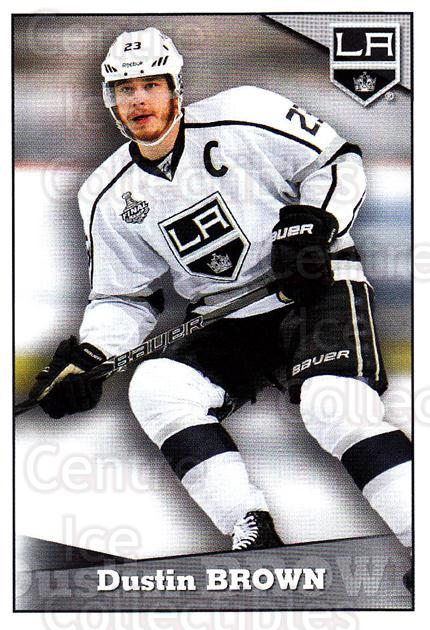 2012-13 Panini Stickers #242 Dustin Brown<br/>6 In Stock - $1.00 each - <a href=https://centericecollectibles.foxycart.com/cart?name=2012-13%20Panini%20Stickers%20%23242%20Dustin%20Brown...&quantity_max=6&price=$1.00&code=667872 class=foxycart> Buy it now! </a>