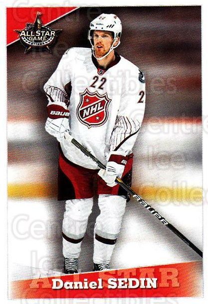 2012-13 Panini Stickers #318 Daniel Sedin<br/>5 In Stock - $1.00 each - <a href=https://centericecollectibles.foxycart.com/cart?name=2012-13%20Panini%20Stickers%20%23318%20Daniel%20Sedin...&quantity_max=5&price=$1.00&code=667948 class=foxycart> Buy it now! </a>