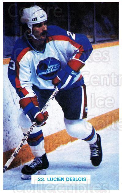 1982-83 Winnipeg Jets Postcards #6 Lucien Deblois<br/>1 In Stock - $3.00 each - <a href=https://centericecollectibles.foxycart.com/cart?name=1982-83%20Winnipeg%20Jets%20Postcards%20%236%20Lucien%20Deblois...&quantity_max=1&price=$3.00&code=668077 class=foxycart> Buy it now! </a>