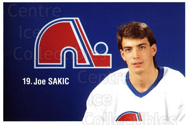 1989-90 Quebec Nordiques Team Issue #36 Joe Sakic<br/>1 In Stock - $10.00 each - <a href=https://centericecollectibles.foxycart.com/cart?name=1989-90%20Quebec%20Nordiques%20Team%20Issue%20%2336%20Joe%20Sakic...&price=$10.00&code=668118 class=foxycart> Buy it now! </a>