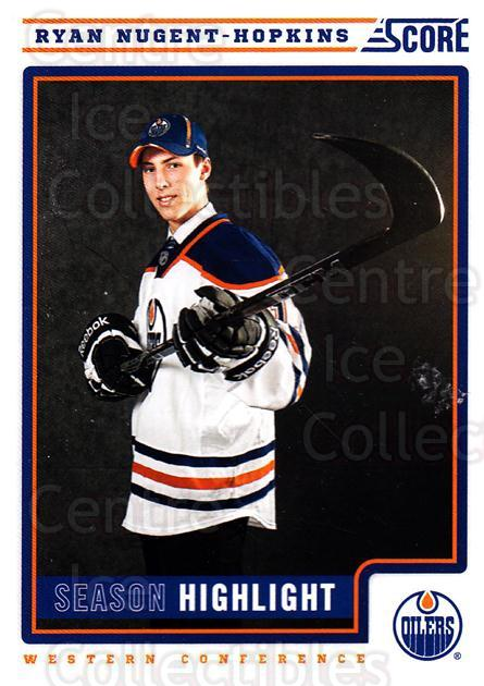 2012-13 Score #1 Ryan Nugent-Hopkins<br/>2 In Stock - $1.00 each - <a href=https://centericecollectibles.foxycart.com/cart?name=2012-13%20Score%20%231%20Ryan%20Nugent-Hop...&quantity_max=2&price=$1.00&code=668299 class=foxycart> Buy it now! </a>
