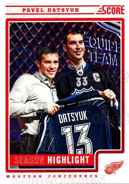2012-13 Score #10 Pavel Datsyuk<br/>2 In Stock - $2.00 each - <a href=https://centericecollectibles.foxycart.com/cart?name=2012-13%20Score%20%2310%20Pavel%20Datsyuk...&quantity_max=2&price=$2.00&code=668308 class=foxycart> Buy it now! </a>