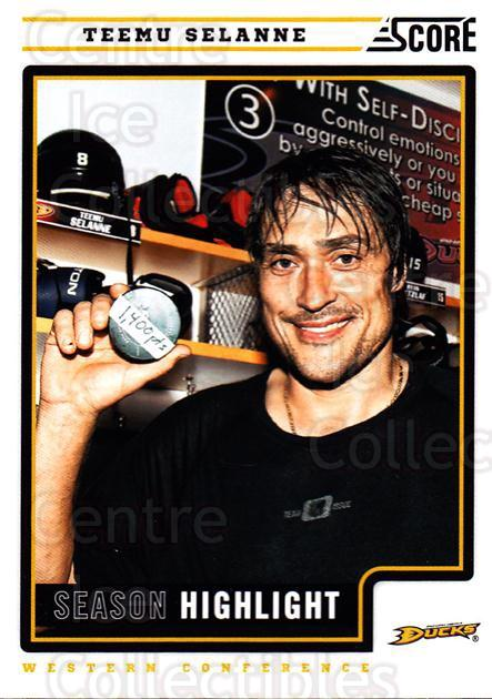 2012-13 Score #18 Teemu Selanne<br/>2 In Stock - $2.00 each - <a href=https://centericecollectibles.foxycart.com/cart?name=2012-13%20Score%20%2318%20Teemu%20Selanne...&quantity_max=2&price=$2.00&code=668316 class=foxycart> Buy it now! </a>