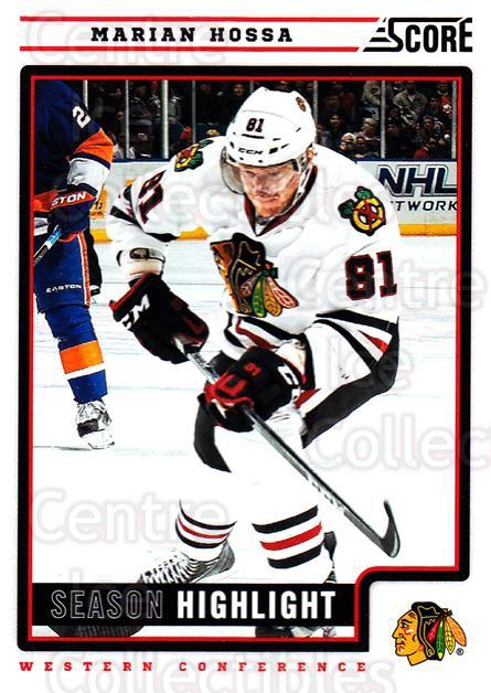 2012-13 Score #24 Marian Hossa<br/>2 In Stock - $1.00 each - <a href=https://centericecollectibles.foxycart.com/cart?name=2012-13%20Score%20%2324%20Marian%20Hossa...&quantity_max=2&price=$1.00&code=668322 class=foxycart> Buy it now! </a>