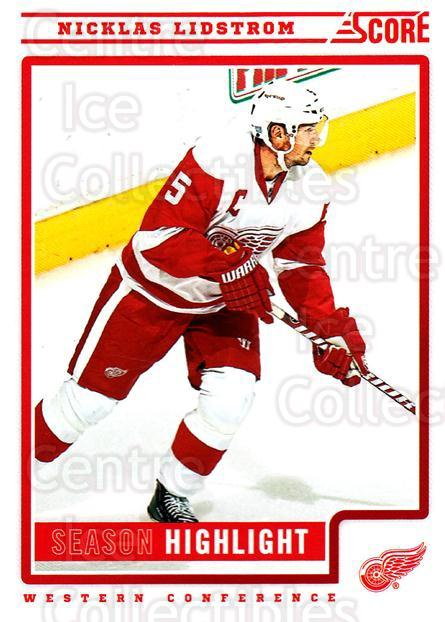 2012-13 Score #33 Nicklas Lidstrom<br/>1 In Stock - $1.00 each - <a href=https://centericecollectibles.foxycart.com/cart?name=2012-13%20Score%20%2333%20Nicklas%20Lidstro...&quantity_max=1&price=$1.00&code=668331 class=foxycart> Buy it now! </a>