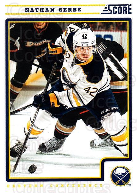 2012-13 Score #81 Nathan Gerbe<br/>2 In Stock - $1.00 each - <a href=https://centericecollectibles.foxycart.com/cart?name=2012-13%20Score%20%2381%20Nathan%20Gerbe...&quantity_max=2&price=$1.00&code=668379 class=foxycart> Buy it now! </a>