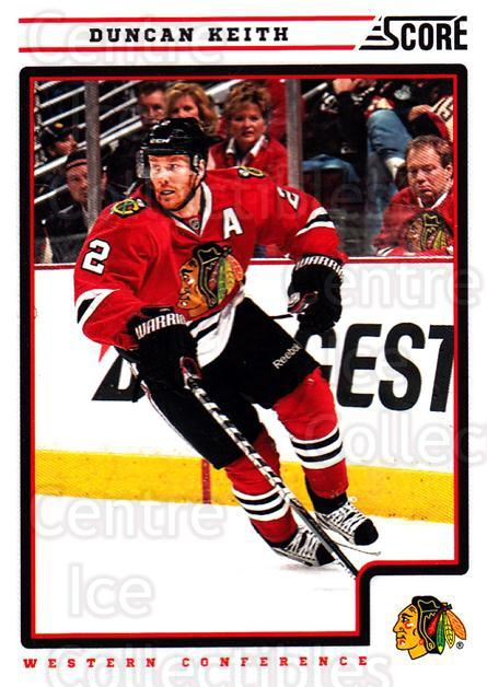 2012-13 Score #118 Duncan Keith<br/>1 In Stock - $2.00 each - <a href=https://centericecollectibles.foxycart.com/cart?name=2012-13%20Score%20%23118%20Duncan%20Keith...&quantity_max=1&price=$2.00&code=668416 class=foxycart> Buy it now! </a>