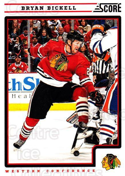 2012-13 Score #130 Bryan Bickell<br/>2 In Stock - $1.00 each - <a href=https://centericecollectibles.foxycart.com/cart?name=2012-13%20Score%20%23130%20Bryan%20Bickell...&quantity_max=2&price=$1.00&code=668428 class=foxycart> Buy it now! </a>