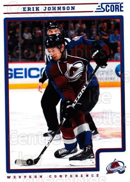 2012-13 Score #138 Erik Johnson<br/>2 In Stock - $1.00 each - <a href=https://centericecollectibles.foxycart.com/cart?name=2012-13%20Score%20%23138%20Erik%20Johnson...&quantity_max=2&price=$1.00&code=668436 class=foxycart> Buy it now! </a>
