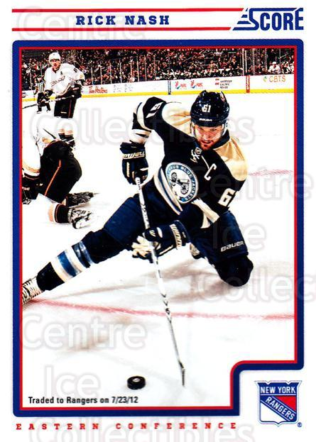 2012-13 Score #147 Rick Nash<br/>1 In Stock - $1.00 each - <a href=https://centericecollectibles.foxycart.com/cart?name=2012-13%20Score%20%23147%20Rick%20Nash...&quantity_max=1&price=$1.00&code=668445 class=foxycart> Buy it now! </a>