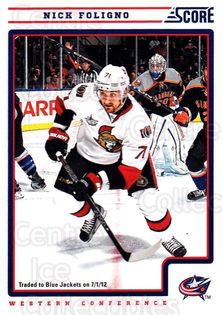 2012-13 Score #154 Nick Foligno<br/>2 In Stock - $1.00 each - <a href=https://centericecollectibles.foxycart.com/cart?name=2012-13%20Score%20%23154%20Nick%20Foligno...&quantity_max=2&price=$1.00&code=668452 class=foxycart> Buy it now! </a>