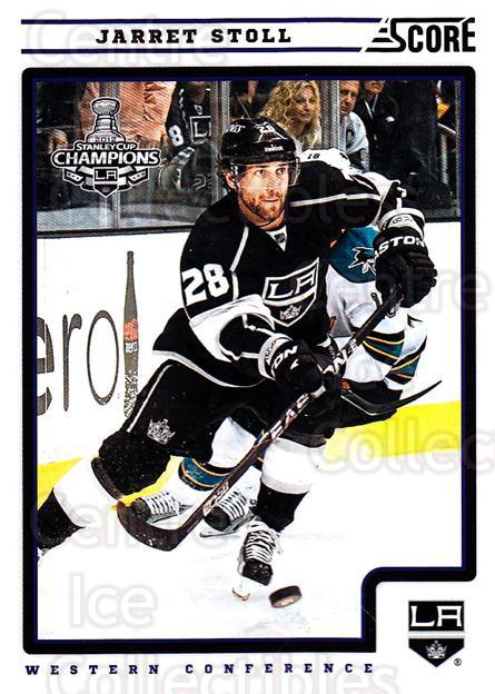2012-13 Score #230 Jarret Stoll<br/>2 In Stock - $1.00 each - <a href=https://centericecollectibles.foxycart.com/cart?name=2012-13%20Score%20%23230%20Jarret%20Stoll...&quantity_max=2&price=$1.00&code=668528 class=foxycart> Buy it now! </a>