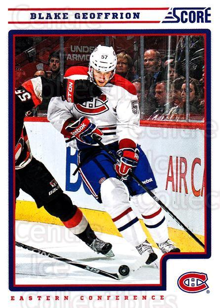 2012-13 Score #261 Blake Geoffrion<br/>2 In Stock - $1.00 each - <a href=https://centericecollectibles.foxycart.com/cart?name=2012-13%20Score%20%23261%20Blake%20Geoffrion...&quantity_max=2&price=$1.00&code=668559 class=foxycart> Buy it now! </a>