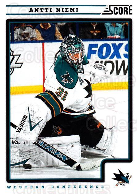 2012-13 Score #392 Antti Niemi<br/>1 In Stock - $1.00 each - <a href=https://centericecollectibles.foxycart.com/cart?name=2012-13%20Score%20%23392%20Antti%20Niemi...&quantity_max=1&price=$1.00&code=668690 class=foxycart> Buy it now! </a>