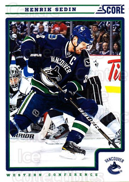 2012-13 Score #446 Henrik Sedin<br/>2 In Stock - $1.00 each - <a href=https://centericecollectibles.foxycart.com/cart?name=2012-13%20Score%20%23446%20Henrik%20Sedin...&quantity_max=2&price=$1.00&code=668744 class=foxycart> Buy it now! </a>