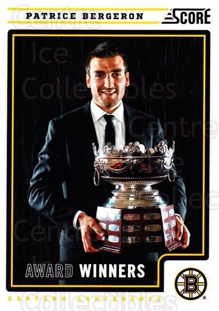 2012-13 Score #498 Patrice Bergeron, Selke Trophy<br/>2 In Stock - $2.00 each - <a href=https://centericecollectibles.foxycart.com/cart?name=2012-13%20Score%20%23498%20Patrice%20Bergero...&quantity_max=2&price=$2.00&code=668796 class=foxycart> Buy it now! </a>