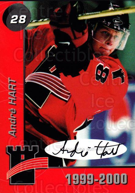 1999-00 Quebec Remparts Autographed #17 Andre Hart<br/>1 In Stock - $5.00 each - <a href=https://centericecollectibles.foxycart.com/cart?name=1999-00%20Quebec%20Remparts%20Autographed%20%2317%20Andre%20Hart...&price=$5.00&code=668949 class=foxycart> Buy it now! </a>
