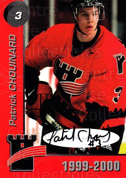 1999-00 Quebec Remparts Autographed #2 Patrick Chouinard<br/>1 In Stock - $5.00 each - <a href=https://centericecollectibles.foxycart.com/cart?name=1999-00%20Quebec%20Remparts%20Autographed%20%232%20Patrick%20Chouina...&price=$5.00&code=668952 class=foxycart> Buy it now! </a>