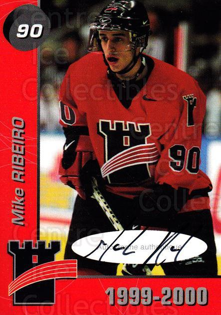 1999-00 Quebec Remparts Autographed #24 Mike Ribeiro<br/>1 In Stock - $5.00 each - <a href=https://centericecollectibles.foxycart.com/cart?name=1999-00%20Quebec%20Remparts%20Autographed%20%2324%20Mike%20Ribeiro...&price=$5.00&code=668956 class=foxycart> Buy it now! </a>