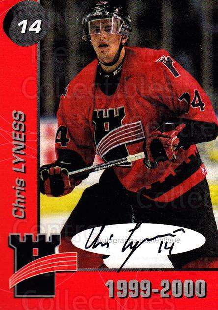 1999-00 Quebec Remparts Autographed #8 Chris Lyness<br/>1 In Stock - $5.00 each - <a href=https://centericecollectibles.foxycart.com/cart?name=1999-00%20Quebec%20Remparts%20Autographed%20%238%20Chris%20Lyness...&price=$5.00&code=668964 class=foxycart> Buy it now! </a>