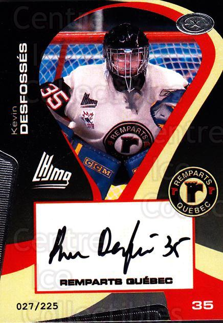 2005-06 Quebec Remparts Autographed #2 Kevin Desfosses<br/>1 In Stock - $5.00 each - <a href=https://centericecollectibles.foxycart.com/cart?name=2005-06%20Quebec%20Remparts%20Autographed%20%232%20Kevin%20Desfosses...&price=$5.00&code=668976 class=foxycart> Buy it now! </a>