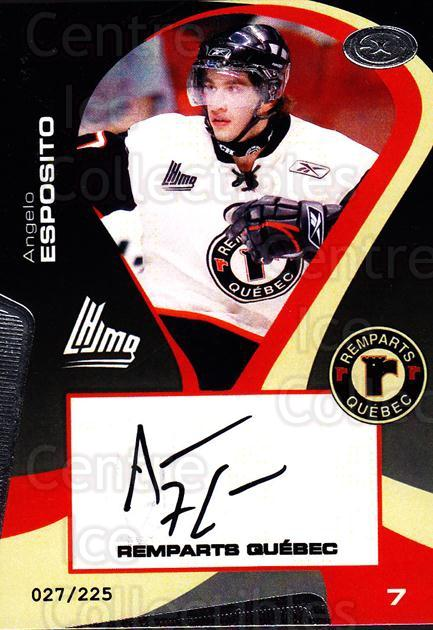 2005-06 Quebec Remparts Autographed #3 Angelo Esposito<br/>1 In Stock - $5.00 each - <a href=https://centericecollectibles.foxycart.com/cart?name=2005-06%20Quebec%20Remparts%20Autographed%20%233%20Angelo%20Esposito...&price=$5.00&code=668977 class=foxycart> Buy it now! </a>