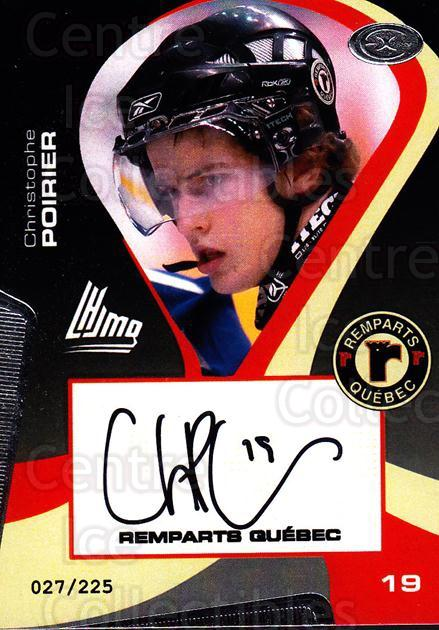 2005-06 Quebec Remparts Autographed #11 Christophe Poirier<br/>2 In Stock - $5.00 each - <a href=https://centericecollectibles.foxycart.com/cart?name=2005-06%20Quebec%20Remparts%20Autographed%20%2311%20Christophe%20Poir...&price=$5.00&code=668985 class=foxycart> Buy it now! </a>