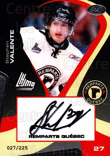 2005-06 Quebec Remparts Autographed #13 Stephen Valente<br/>2 In Stock - $5.00 each - <a href=https://centericecollectibles.foxycart.com/cart?name=2005-06%20Quebec%20Remparts%20Autographed%20%2313%20Stephen%20Valente...&price=$5.00&code=668987 class=foxycart> Buy it now! </a>