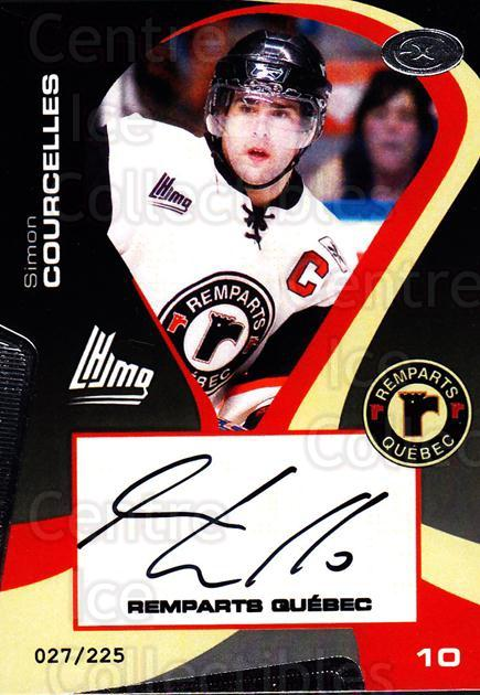 2005-06 Quebec Remparts Autographed #16 Simon Coucelles<br/>1 In Stock - $5.00 each - <a href=https://centericecollectibles.foxycart.com/cart?name=2005-06%20Quebec%20Remparts%20Autographed%20%2316%20Simon%20Coucelles...&price=$5.00&code=668990 class=foxycart> Buy it now! </a>