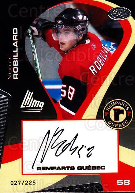 2005-06 Quebec Remparts Autographed #22 Nicolas Robillard<br/>2 In Stock - $5.00 each - <a href=https://centericecollectibles.foxycart.com/cart?name=2005-06%20Quebec%20Remparts%20Autographed%20%2322%20Nicolas%20Robilla...&price=$5.00&code=668996 class=foxycart> Buy it now! </a>