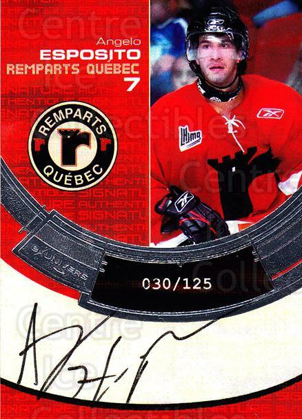 2006-07 Quebec Remparts Autographed #1 Angelo Esposito<br/>1 In Stock - $5.00 each - <a href=https://centericecollectibles.foxycart.com/cart?name=2006-07%20Quebec%20Remparts%20Autographed%20%231%20Angelo%20Esposito...&price=$5.00&code=668998 class=foxycart> Buy it now! </a>