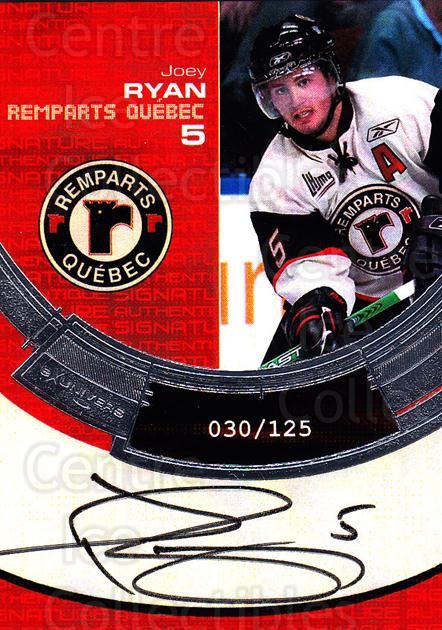 2006-07 Quebec Remparts Autographed #3 Joey Ryan<br/>1 In Stock - $5.00 each - <a href=https://centericecollectibles.foxycart.com/cart?name=2006-07%20Quebec%20Remparts%20Autographed%20%233%20Joey%20Ryan...&price=$5.00&code=669000 class=foxycart> Buy it now! </a>
